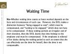 waiting time1