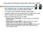 international mobile subscriber identity imsi