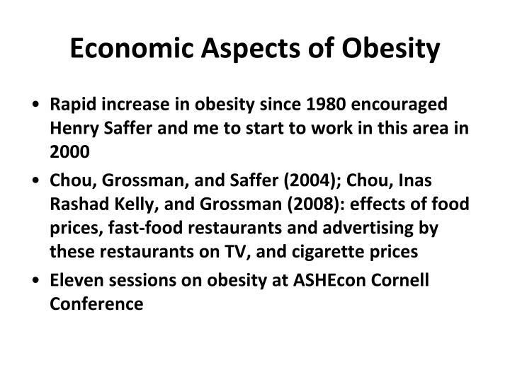 Economic Aspects of Obesity