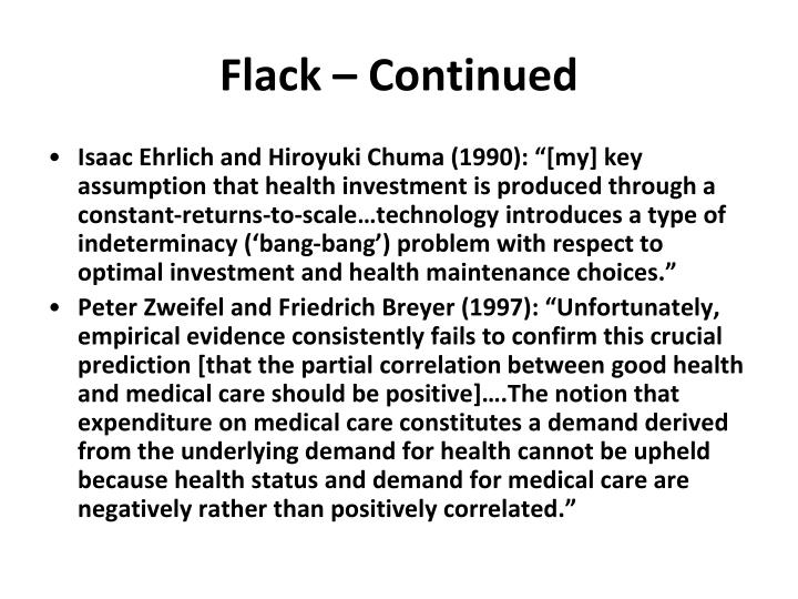Flack – Continued