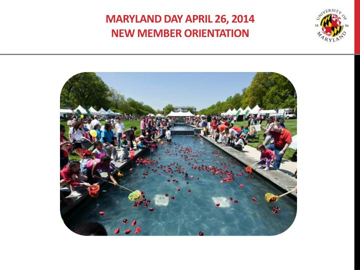 maryland day april 26 2014 new member orientation n.