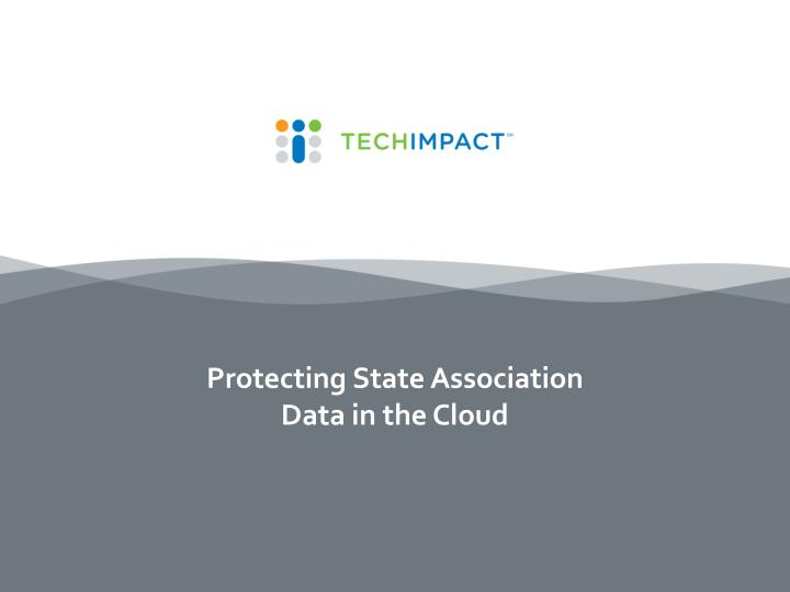 protecting state association data in the cloud n.