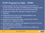 pcim progress to date pcmh