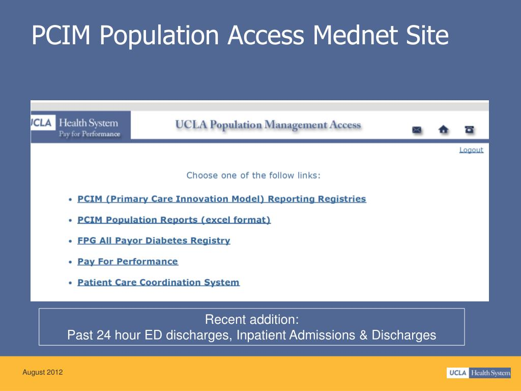 PPT - Update Primary Care Innovation Model (PCIM) Patient