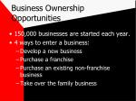 business ownership opportunities