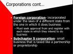 corporations cont