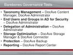 barebones governance tools