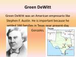 green dewitt