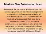 mexico s new colonization laws