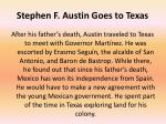 stephen f austin goes to texas