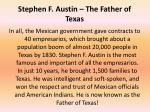 stephen f austin the father of texas
