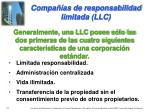 compa as de responsabilidad limitada llc