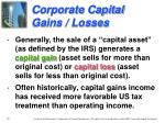 corporate capital gains losses