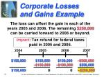 corporate losses and gains example1