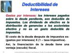 deductibilidad de intereses