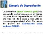 ejemplo de depreciaci n
