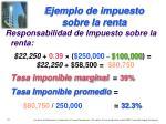 ejemplo de impuesto sobre la renta1