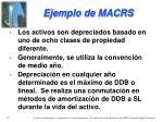 ejemplo de macrs