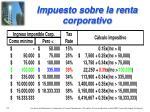 impuesto sobre la renta corporativo
