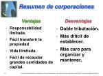 resumen de corporaciones