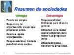 resumen de sociedades