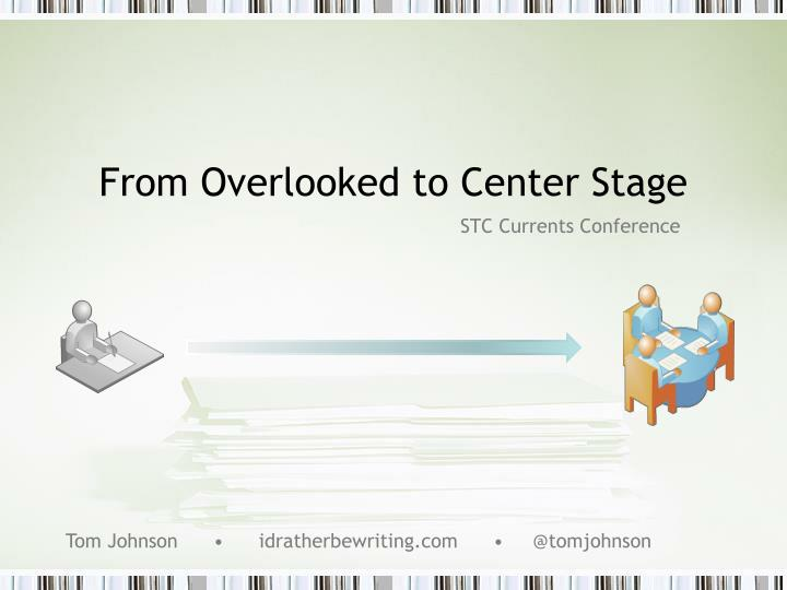from overlooked to center stage n.