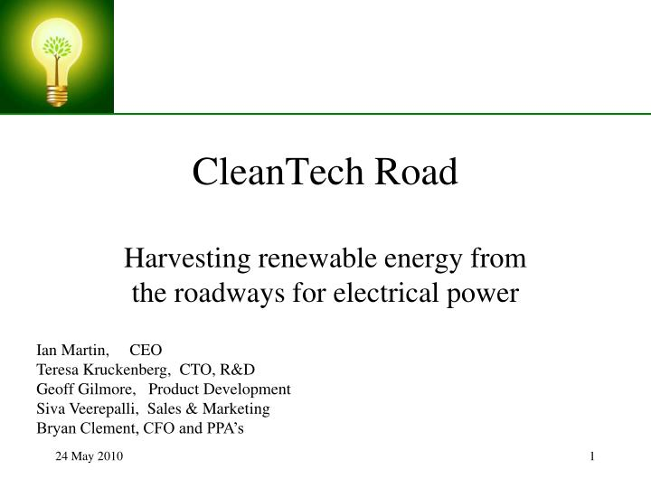 cleantech road n.