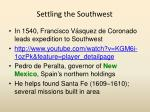settling the southwest
