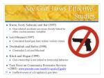 are gun laws effective studies1