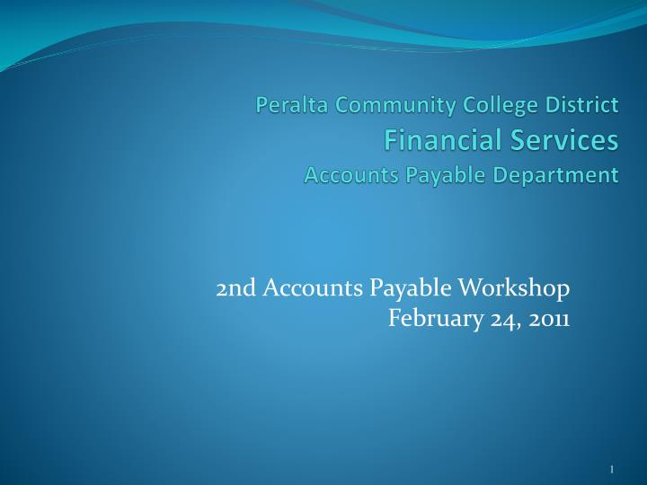 peralta community college district financial services accounts payable department n.