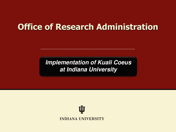 office of research administration n.