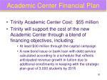 academic center financial plan