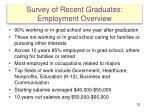 survey of recent graduates employment overview