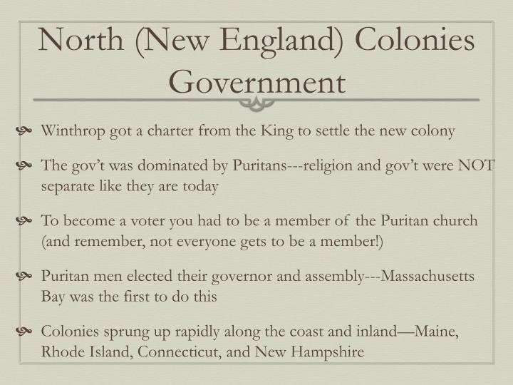northern colonies government