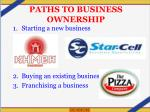 paths to business ownership