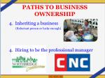 paths to business ownership1
