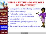 what are the advantages of franchise