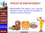 what is franchise