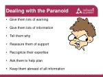 dealing with the paranoid