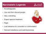 narcissistic legends