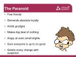 the paranoid