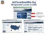 airforcesmallbiz org sb specialist locator lrae