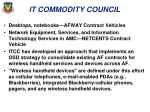 it commodity council