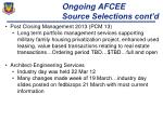 ongoing afcee source selections cont d