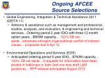 ongoing afcee source selections
