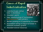 causes of rapid industrialization2