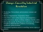 changes caused by industrial revolution