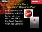 ease of use emergency response plan