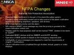 nfpa changes