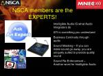 nsca members are the experts